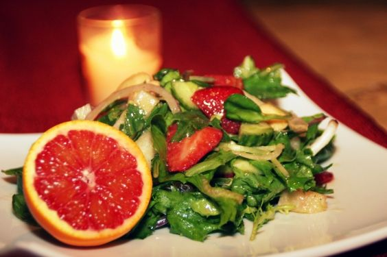 Farmers Market Salad with Blood Orange Dressing http://cookingwithmelody.com/all-recipes/soups-salads/farmers-market-salad-with-blood-orange-dressing/