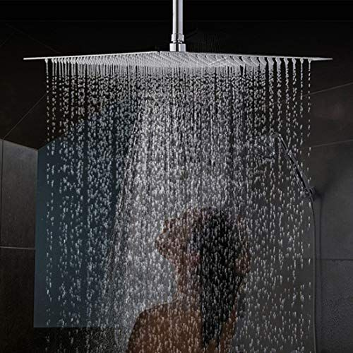 Drenky 16 Inch 40cm Square Fixed Shower Head 304 Stainless Steel