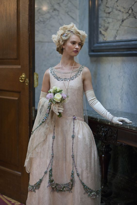 Downton Abbey Series 4 Christmas Special - Lily James as Lady Rose MacClare (2013).