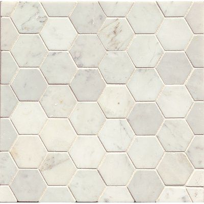 Gsmt Hexagon Marble Polished Mosaic Tile In White Carrara Hexagon Mosaic Tile Hexagonal Mosaic White Carrara Marble Tile