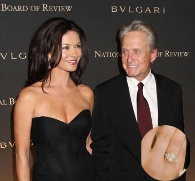 Michael Douglas proposed to Katherine Zeta Jones with an antique 10
