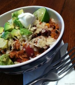 Chicken Taco Chili in the slow cooker