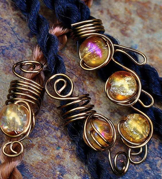 Mermaid Jewelry, Dreadloc Beads, African Hair Jewelry, Dreadlocks, Rasta Jewelry, Dreadloc Jewelry, Loc Coils, Loc Wraps. Hair Jewelry
