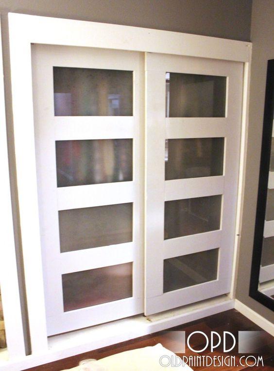 DIY bypass closet doors