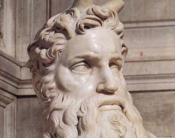Moses (Detail) Michelangelo Buonarroti Italian 1475-1564 1513-1515 Italian Renaissance  Marble San Pietro in Vincoli; Rome, Italy