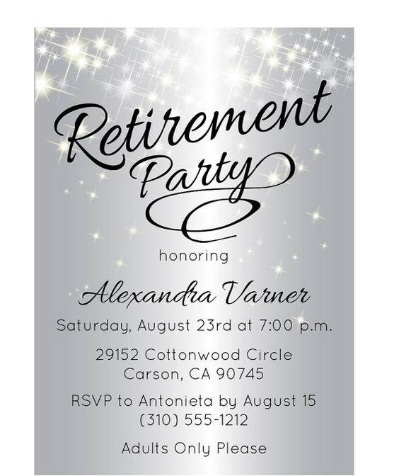 Silver Retirement Party Invitation - Retirement Party Invite ...