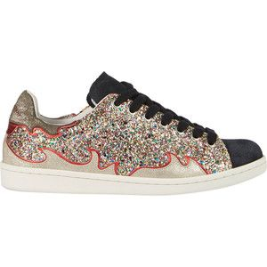 Isabel Marant Étoile Glitter & Suede Gilly Sneakers