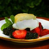 Callie's Shortcakes with your favorite fresh berry....perfect dessert.