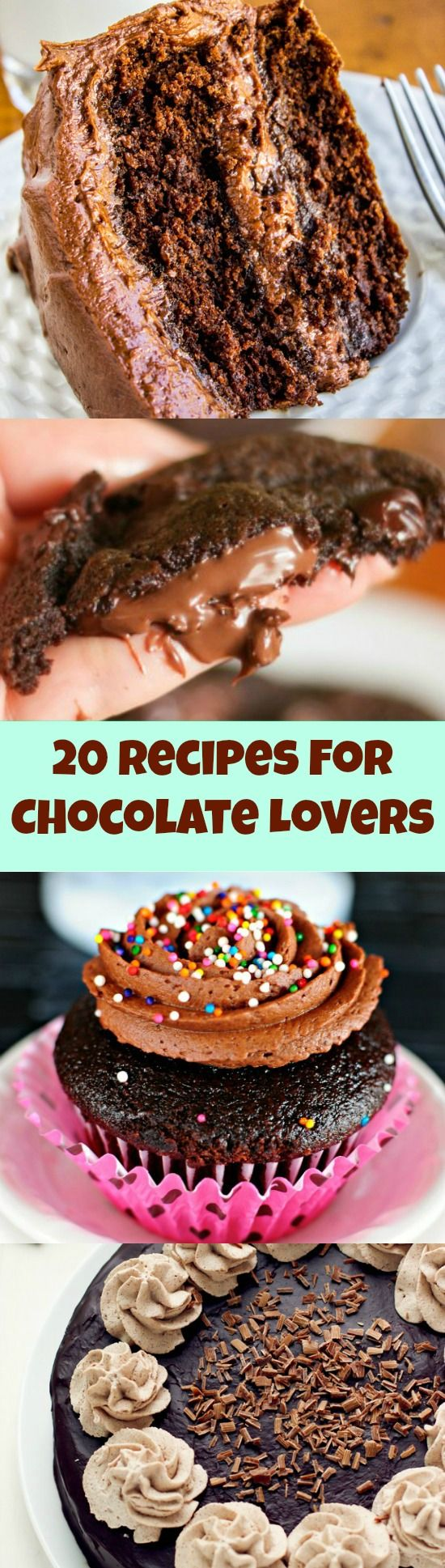 20 of the very BEST Recipes for Chocolate Lovers!