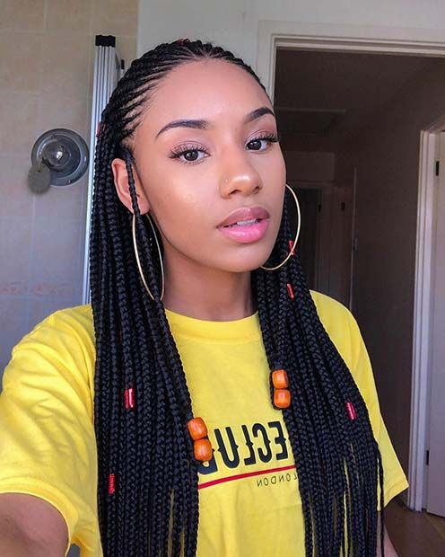 45 Hot Fulani Braids To Copy This Summer Page 4 Of 4 Stayglam Hair Styles Natural Hair Styles Fulani Braids