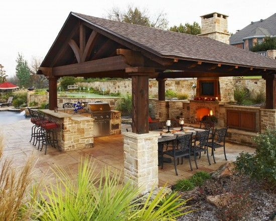 Outdoor Kitchen Designs Featuring Pizza Ovens, Fireplaces And Other Cool  Accessories | Kitchens, Backyard And Patios