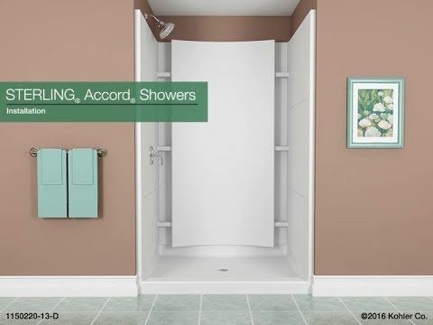 Series 7224 36 X 36 X 75 3 4 Shower Stall With Aging In Place