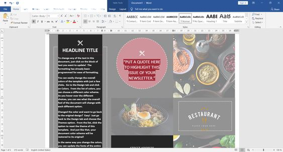 Microsoft Word 2019 Screenshot
