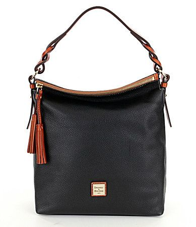 Dooney and Bourke Pebble Collection Small Sloan Tasseled Hobo Bag #Dillards
