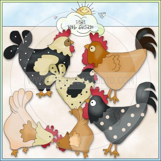 Country Cluckers 1 - NE Cheryl Seslar Clip Art
