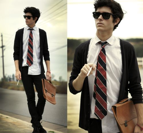 80 39 s style raybans untucked shirt tie guy photo for Untucked dress shirt with tie