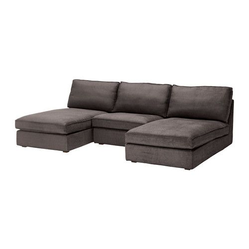 Kivik 2 Chaise Lounges And Armchair Tullinge Gray Brown
