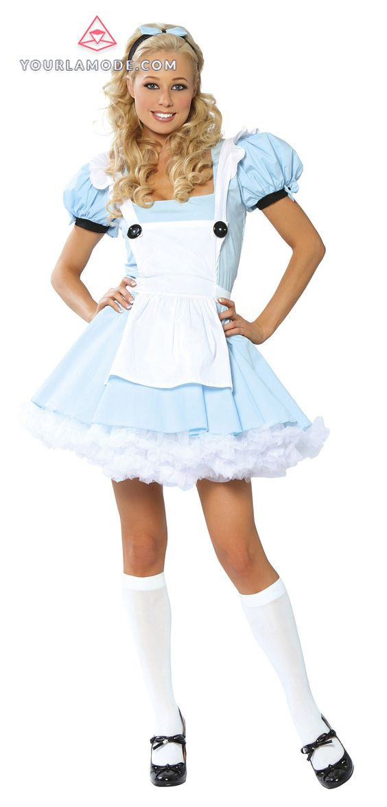 Alice Costume Costume Includes Dress, Apron With Button Detail, And Headband. Shop this now YourLaMode #sexy #fairytale #costumes #women #clothing