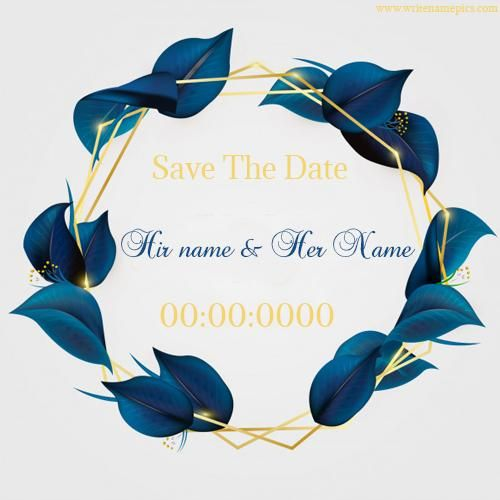 Online Wedding Invitation Card With Couple Name And Wedding