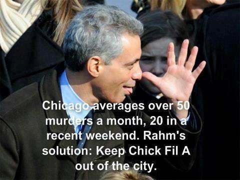 Rahm Immanuel- What a sad story.