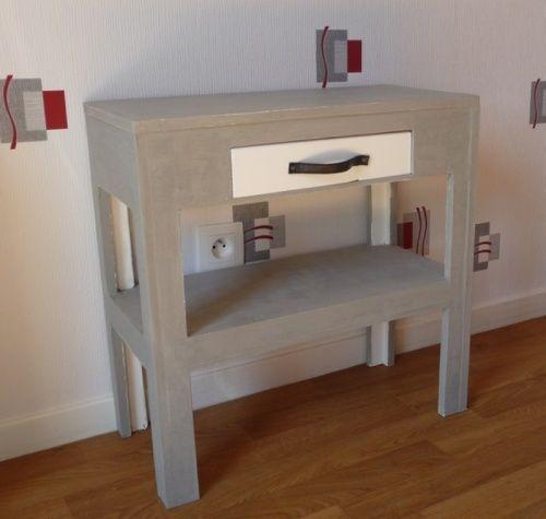 Petite Console Pour Imprimante Meuble En Carton Mobilier De Salon Petite Console