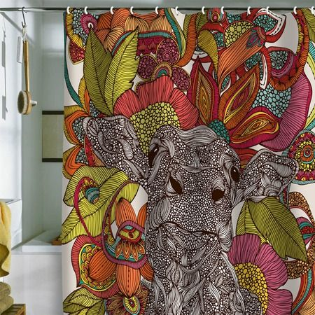 Arabella and the Flowers Shower Curtain - Valentina Ramos on Joss and Main