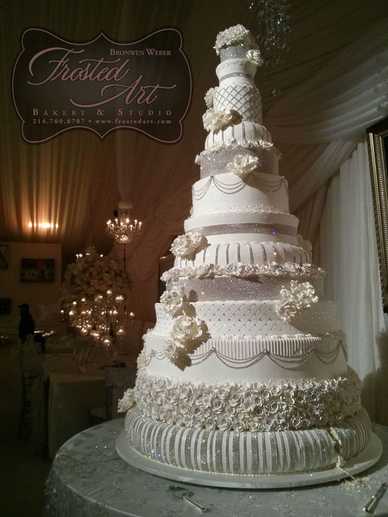 wedding cake swarovski crystals this wedding cake was 7 with 28 pounds of 25901