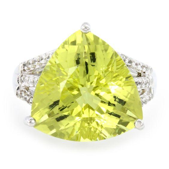 Bague en argent et Quartz de l'Ouro Verde-3375WX | Juwelo Bijouterie