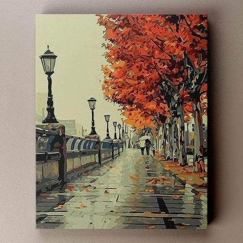 Cherry Blossom Promenade Paint By Number Large Painting Painting