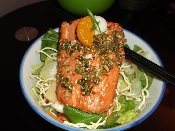 ... noodles, mandarine oranges & marinated tofu} {Honey, ginger poached