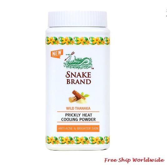 Prickly Heat Cooling Powder Snake Brand Wild Thanaka 50g Prickly