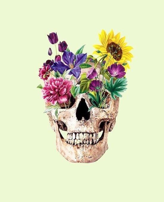 Rocknrox Calaveras Flores Craneo Floral Dibujos