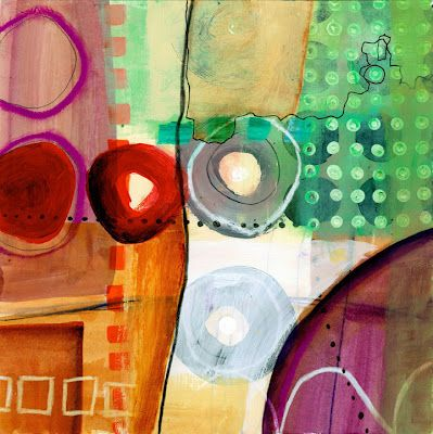 jane davies (from her collage journeys blog) #circles #dots