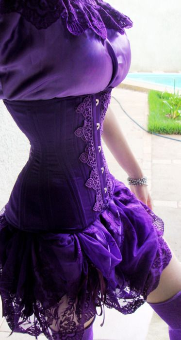 corsets    Rich . via Mrs. D onto Purple Small Sexy Things