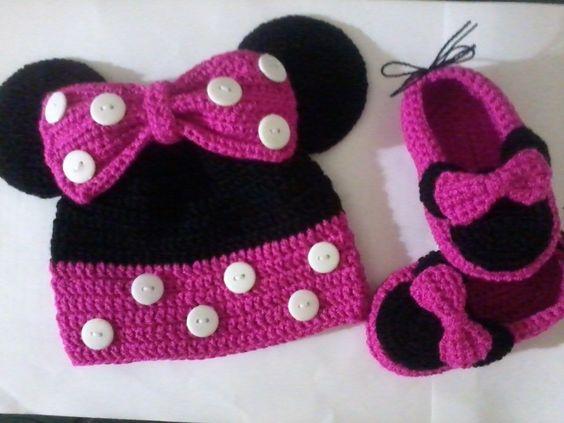 Gorros Y Zapatitos Tejidos Crochet a $ 350.Bebés, Ropa de Bebé, Accesorios