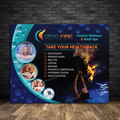 Jaw Dropping Event Banner Design Holistic Health Spa Holistic Health Holistic Wellness Business Design