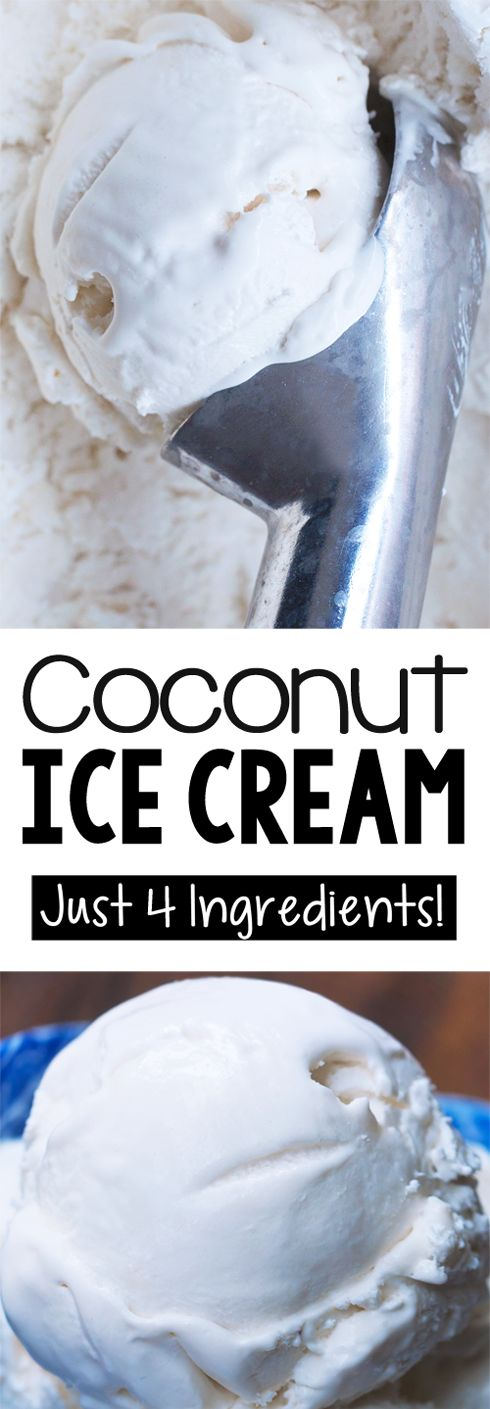 4 Ingredient Coconut Ice Cream Recipe