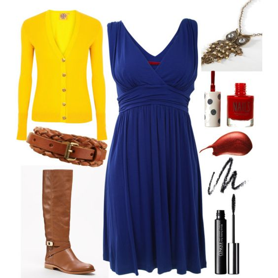 This is how I plan to wear that random blue dress in my closet when I get back to school. Love it!