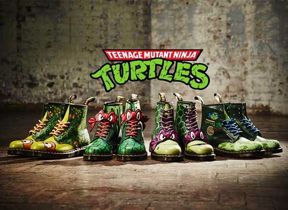 Teenage Mutant Ninja Turtles Dr. Martens Boots Collection Inspired By '80s Cartoon.