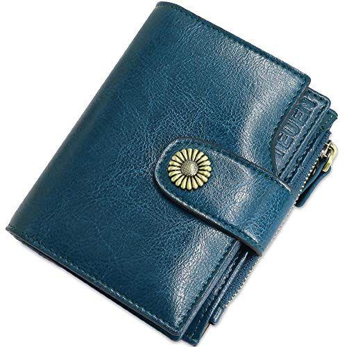 Femmes//Femmes Large En Cuir Synthétique RFID coin//ARGENT//Credit Card Holder Purse
