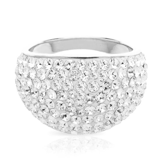 Swarovski® Crystal Dome Ring in Sterling Silver by @Helzberg Diamonds #ring #aislestyle