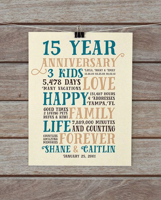 15 Year Wedding Anniversary Gift For Him: Pinterest • The World's Catalog Of Ideas