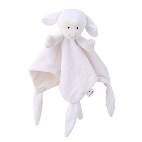 Lalang Baby Tag Blanket Comforter With Cute Animals White Sheep