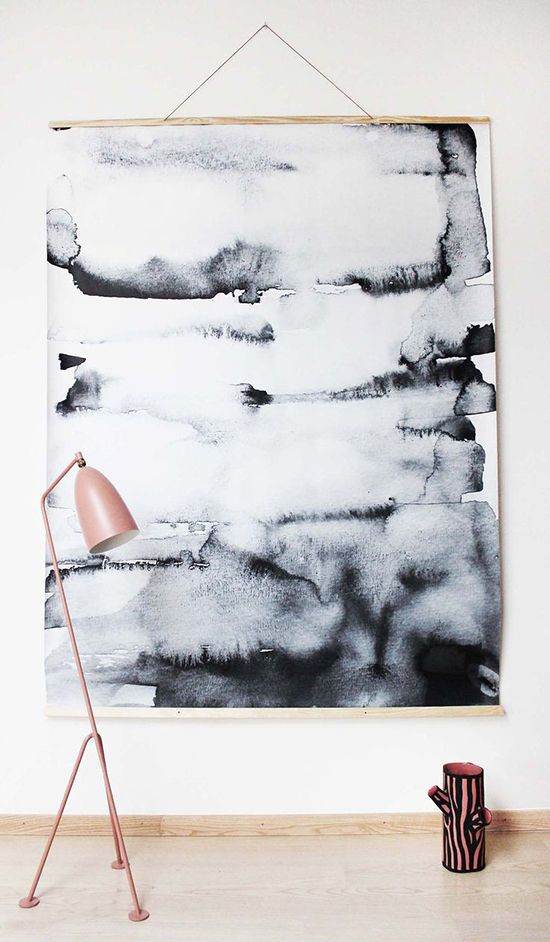 Paint a large wall-hanging and hang it like this!