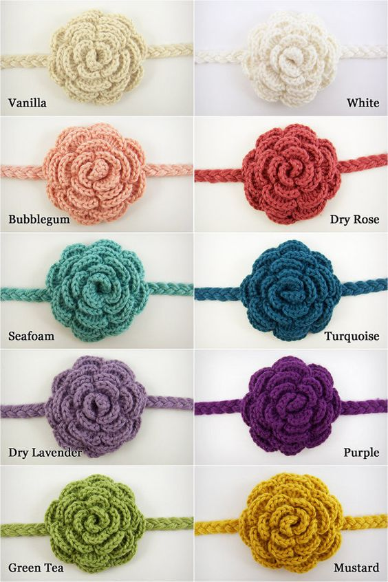 Crochet Hair Accessories Tutorial : Baby Hair Accessory, Baby Girl Crochet Headband. $12.00, via Etsy ...