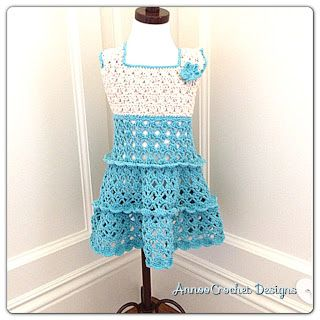 Annoo's Crochet World: Toddler  Summer Vintage Dress Free Pattern ~ **Along with this pattern is a photo tutorial** ~W~