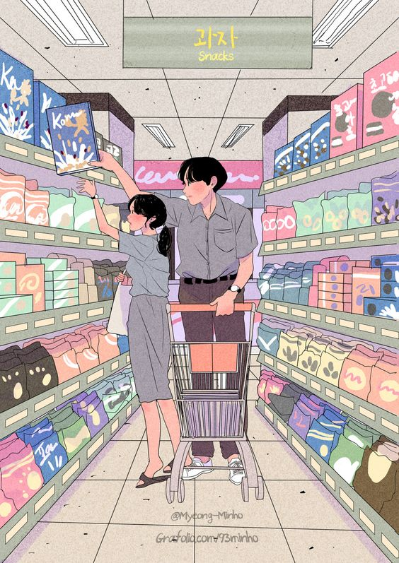 mistakes to avoid as a couple living together, art by myeong-minho   soyvirgo.com