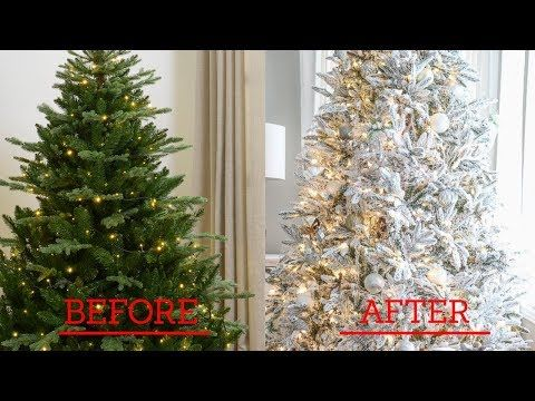 How To Flock A Christmas Tree Easy Cheap Fast Flocking Method Youtube In 2020 Christmas Tree Simple Christmas Tree Christmas Ornament Wreath