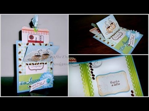 Interactive Pop-Up Card with Gift Card - Coffee Lover