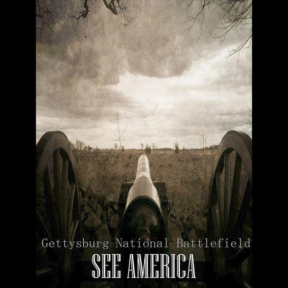 Gettysburg Canon, Gettysburg National Military Park by Bryan Bromstrup  #SeeAmerica: Gettysburg National, Gettysburg Canon, Bromstrup Seeamerica, See America, National Military, Canon Gettysburg, Bryan Bromstrup, National Battlefield